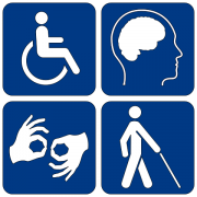 An image of disability symbols