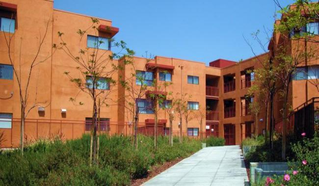 orange-red building