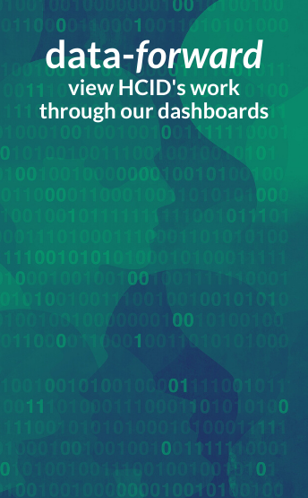 Data-forward. View HCID's work through our dashobards