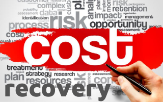 cost recovery graphic with text