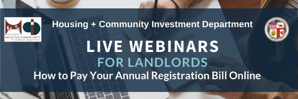 Live Webinars for Landlords